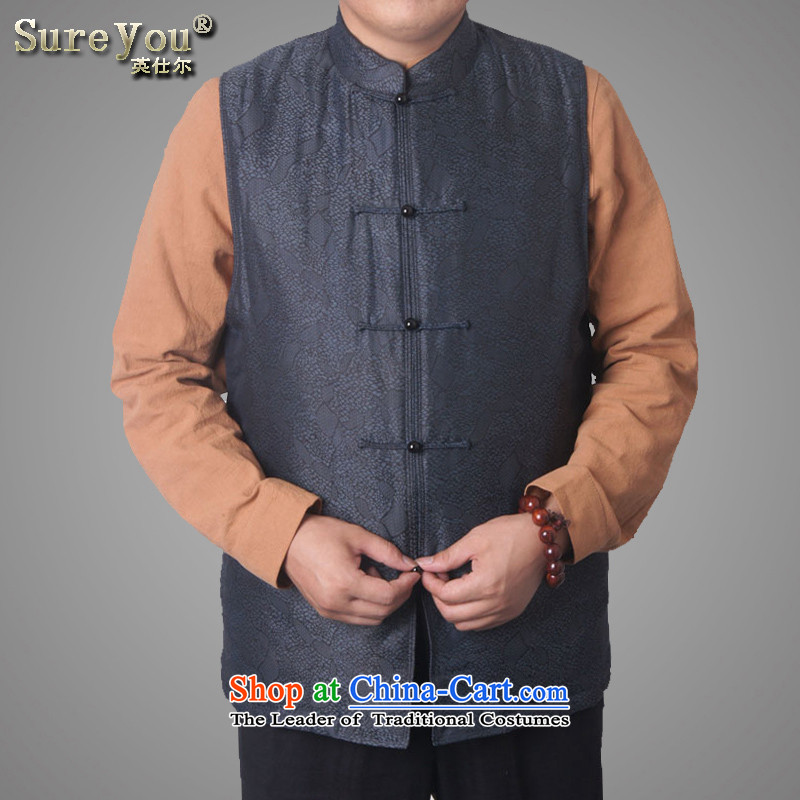 Mr Rafael Hui-ying's New Man Tang jackets spring long-sleeved shirt collar male China Wind, a Chinese national costumes in older holiday gifts light gray聽170