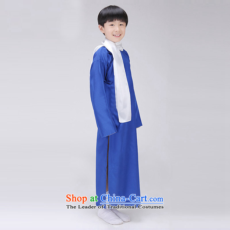 The Republic of Korea, Syrian children ancient time wearing gowns style robes boy comic dialogs will stage size cheongsams interludes May-fourth young students with gray聽150CM, time Syrian shopping on the Internet has been pressed.
