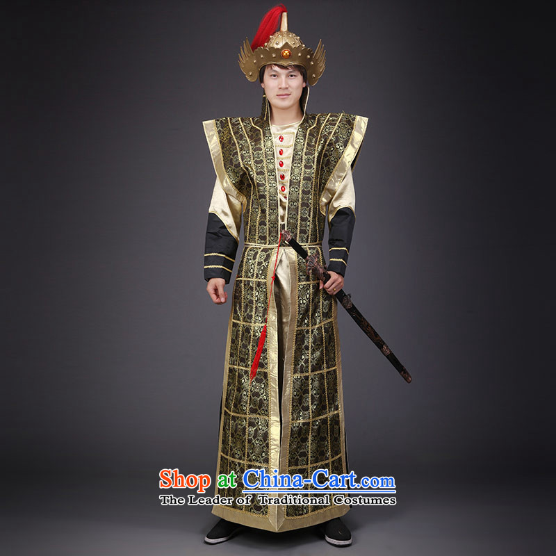 Time Syria will military uniforms Hua Mulan Lanling Wang armor armor soldiers wearing classical dance performances by clothing major outstanding theatrical costume adult 160-175CM theme)
