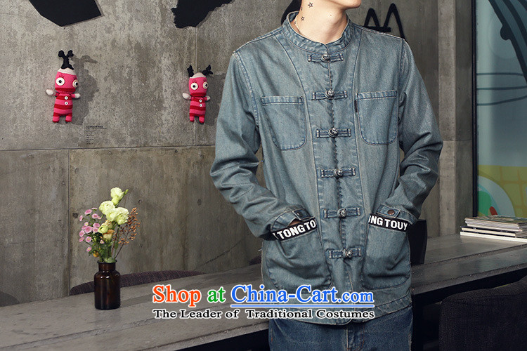 Dan Jie Shi spring and autumn 2015 China wind national wind up the clip cowboy jacket Chinese Cardigan Men's Mock-Neck Chinese tunic, quilts White聽XL Photo, prices, brand platters! The elections are supplied in the national character of distribution, so action, buy now enjoy more preferential! As soon as possible.