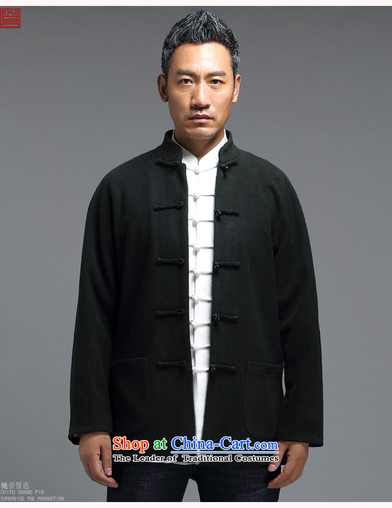 Renowned for autumn and winter 2015 New China wind male Tang Dynasty Chinese long-sleeved improved China wind ball-Tang Dynasty to the black聽L picture, prices, brand platters! The elections are supplied in the national character of distribution, so action, buy now enjoy more preferential! As soon as possible.