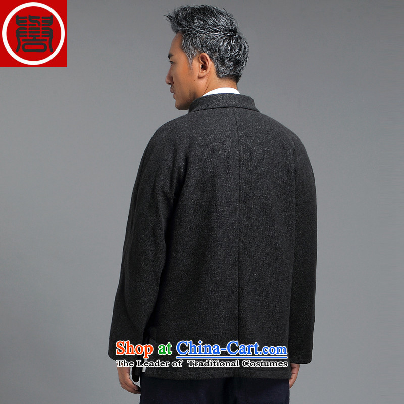 Renowned for autumn and winter 2015 New China wind male Tang Dynasty Chinese long-sleeved improved China wind ball-Tang Dynasty to the black聽, L, renowned (CHIYU) , , , shopping on the Internet