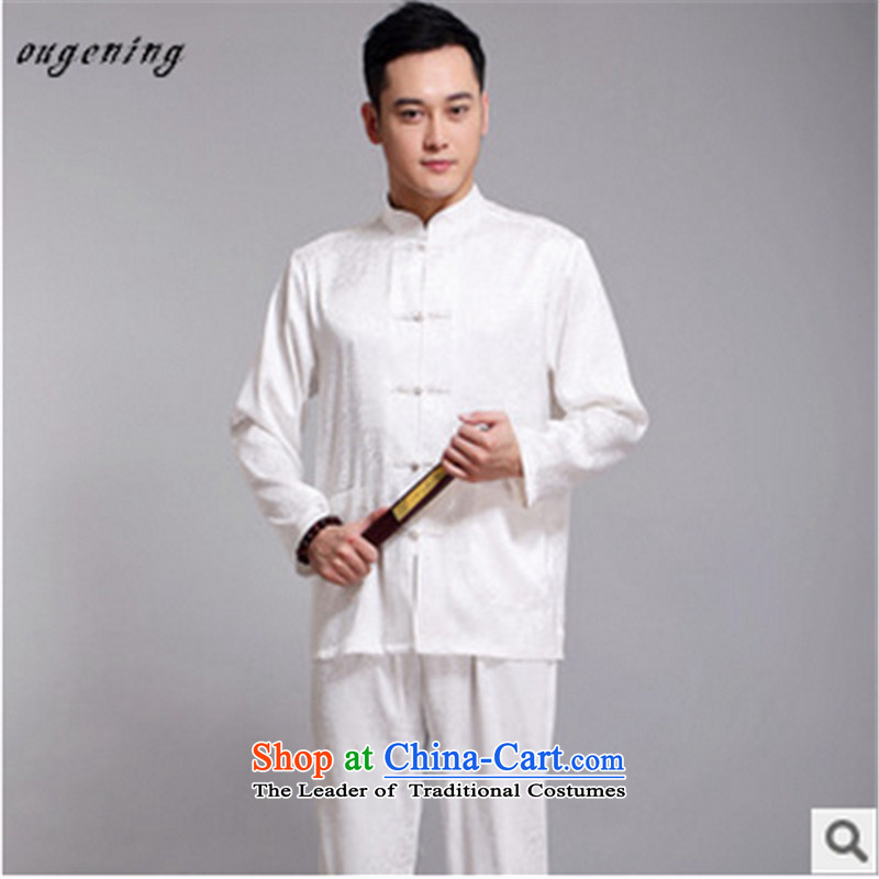 The name of the 2015 autumn of the OSCE new men in older ethnic Chinese Han-Tang dynasty l shirt Kit replacing Tang dynasty grandfather father聽in Europe of the blue (ougening lemonade) , , , shopping on the Internet