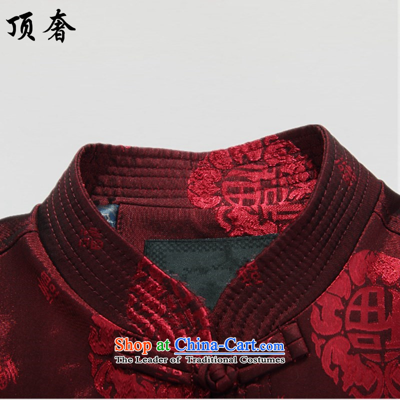 Top聽15 luxury, in spring and autumn new older men long-sleeved jacket loose version father red middle-aged man Tang dynasty during the spring and autumn jacket coat聽190, red top luxury shopping on the Internet has been pressed.