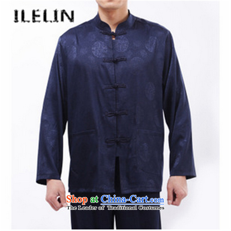 The fall of the new middle-aged ILELIN2015 MEN CASUAL father in older men Tang dynasty Long-sleeve Tang Dynasty Package Red聽190,ILELIN,,, shopping on the Internet