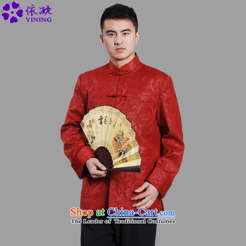 In accordance with the Chinese National wind improvements gel collar suit. The elderly disc classical father replacing Tang jackets燣GD_M0043_燫ED燲L