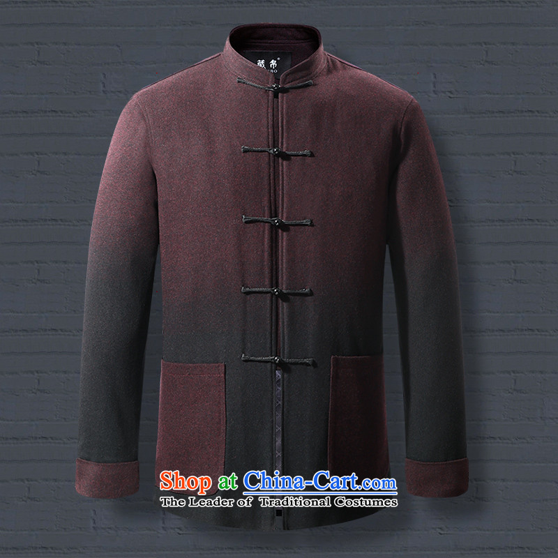 8D 2015 Fall_Winter Collections men gross? Tang Dynasty Large overcoats banquet leisure New Email Package offer middle-aged 0735 190_XXXL red