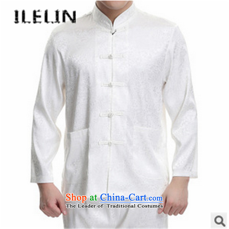 The fall in the new ILELIN2015 older Chinese men Tang dynasty l Kit China wind retro fitted on the white father leisure river 180