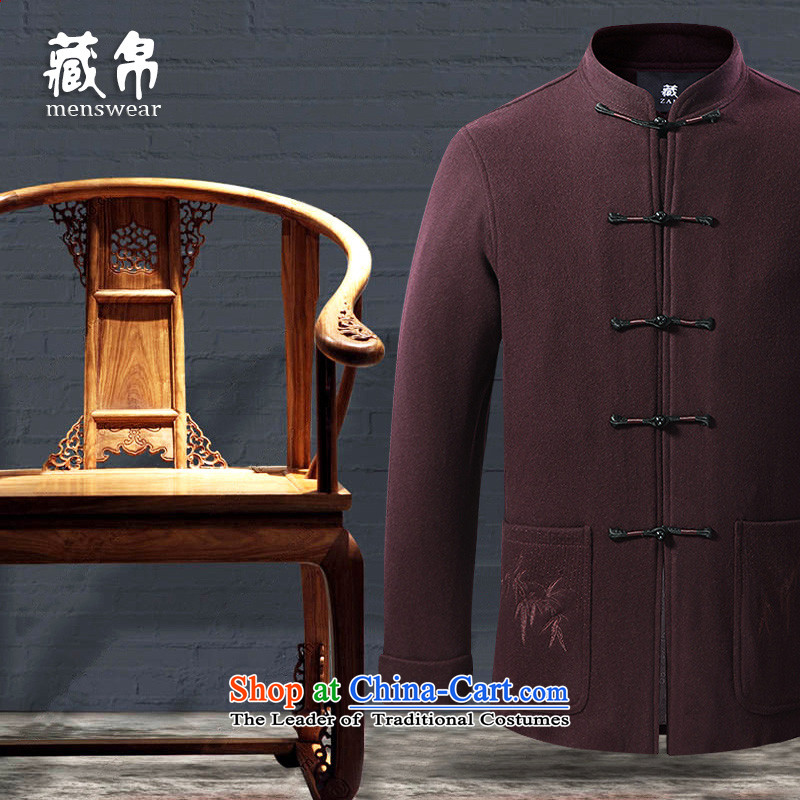 8D 2015 men hiding gross? Tang jackets for larger Elderly Banquet Leisure Rate Package Postal chinese red 190_XXXL 7717