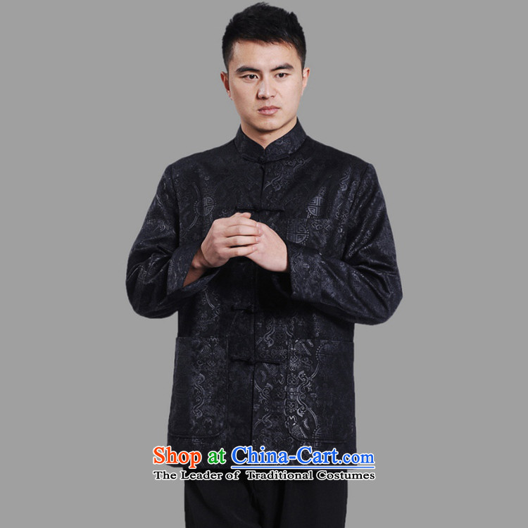 In accordance with the fuser retro ethnic Chinese improved collar suit single row detained father replacing Tang jackets聽Lgd/m0043# -A DARK BLUE聽3XL picture, prices, brand platters! The elections are supplied in the national character of distribution, so action, buy now enjoy more preferential! As soon as possible.