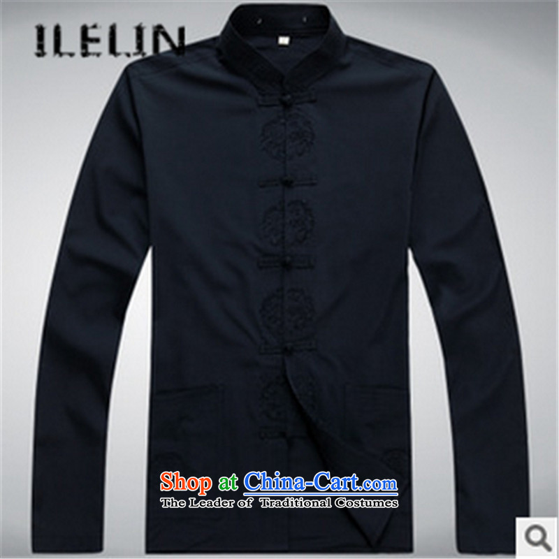 The fall of new ILELIN2015 Men long-sleeved father in Tang Dynasty older grandfather autumn T-shirts older persons China wind kit red180,ILELIN,,, shopping on the Internet