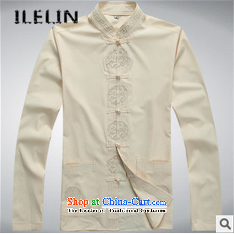 The fall of new ILELIN2015 Men long-sleeved father in Tang Dynasty older grandfather autumn T-shirts older persons China wind kit red聽180,ILELIN,,, shopping on the Internet