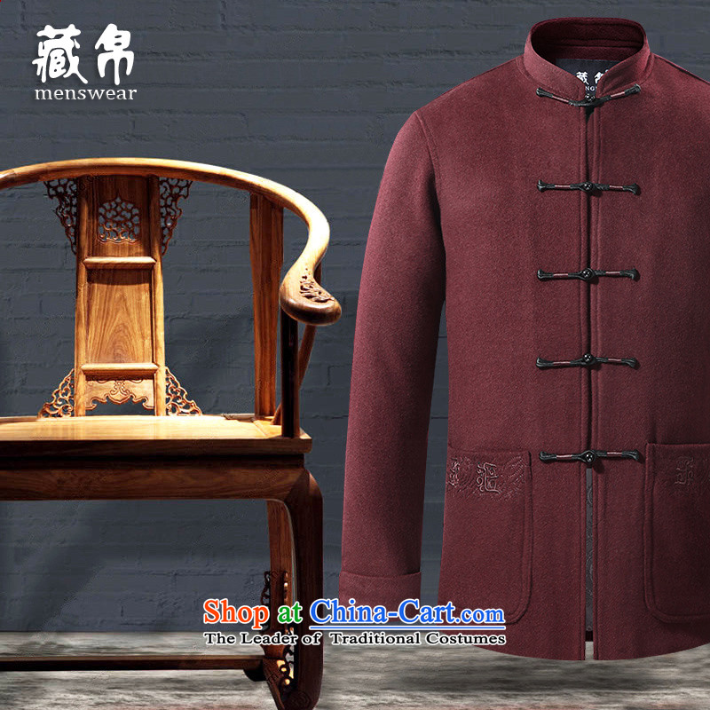 8D 2015 men hiding gross? Tang dynasty overcoat older large leisure special offers banquet package mail red 185/XXL 77 16