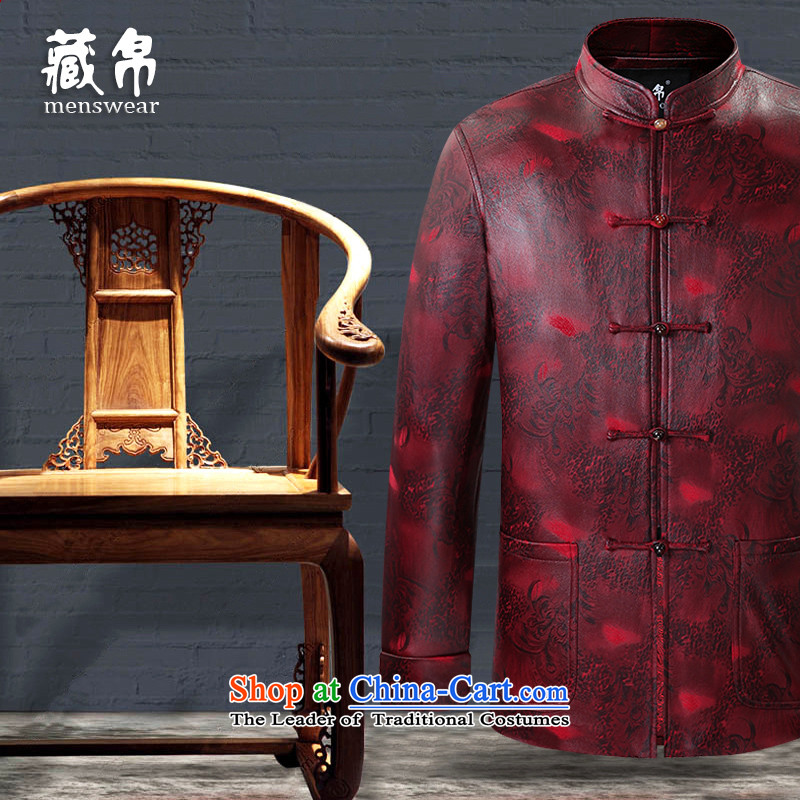 Genuine friendship and possession of composite stamp in the elderly father Tang Grandpa replacing banquet Chinese China wind dark brown聽190/XXXL, 0728 9.... possession shopping on the Internet