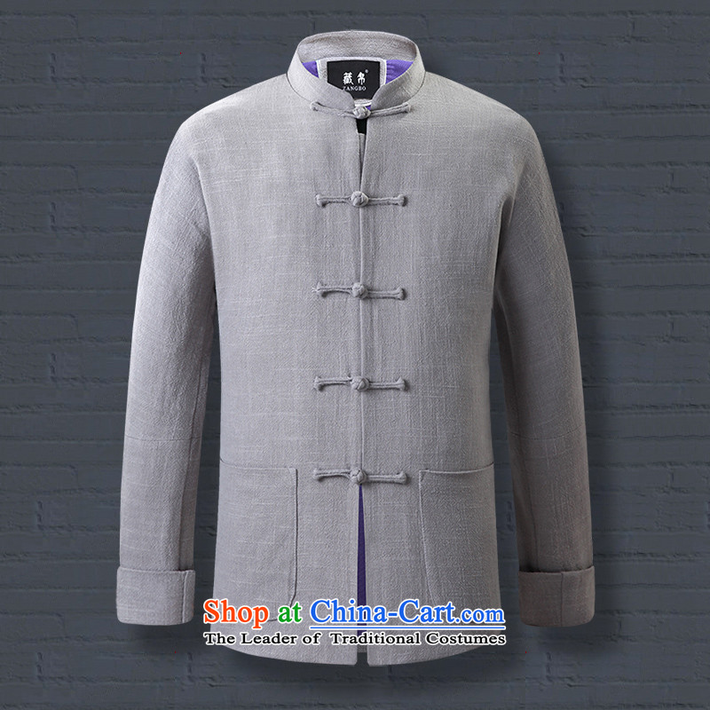 Tang Dynasty Male Silk Tibetan old folk weave cotton linen, the young and the old drive collar tie china wind national costumes disc detained Blue聽170/M, 0735 9.... possession shopping on the Internet