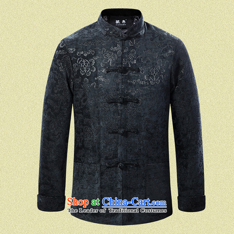 8D 2015 Fall_Winter Collections men Tang jackets banquet wedding large lounge offer clearance package mail middle-aged blue� 180_XL at 0713 hours