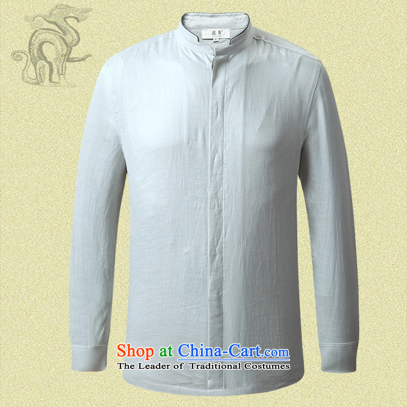 9autumn possession linen long sleeved shirt, forming the Netherlands Father Tang dynasty China wind in national costumes green 158617 175/L, elderly Tibetan Silk , , , shopping on the Internet