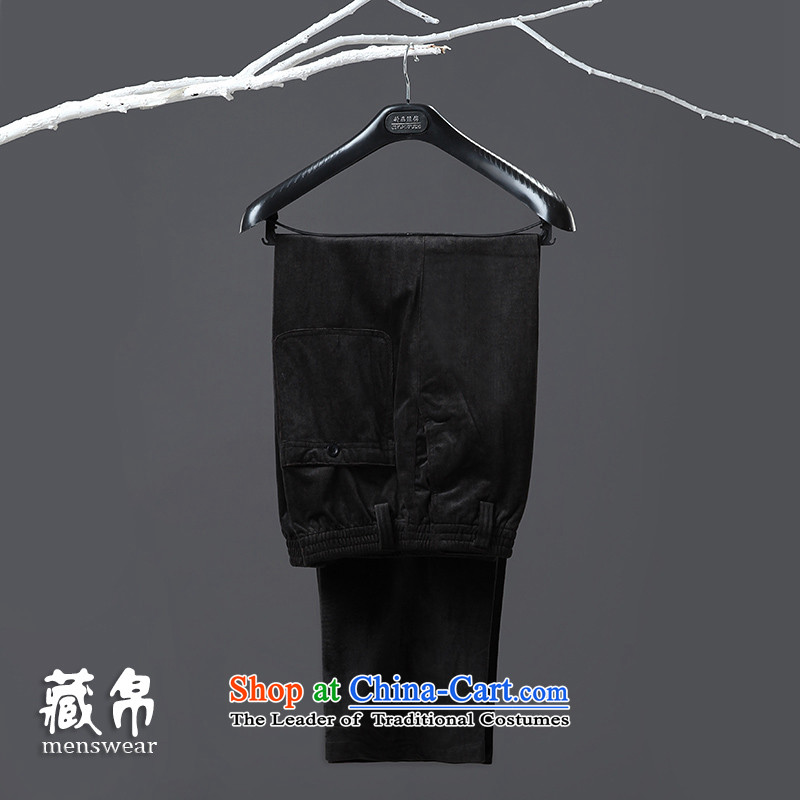 8D 2015 genuine possession of autumn and winter men Tang pants large banquet business and leisure offer packages in the mail older black dark gray 501 170