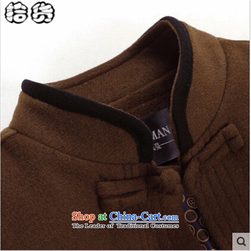 The 2015 autumn pick new Tang dynasty father replacing replacing men jacket coat grandpa autumn colors in the stitching of older China wind national Tang jackets black聽170, pickup (shihuo) , , , shopping on the Internet