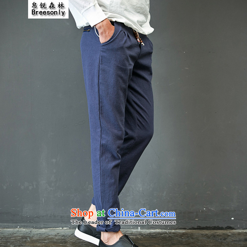 8Vpro Forest (breesonly) Tang Dynasty Chinese tunic, Korean version of the summer and fall of linen pants trousers Sau San thin聽K86聽khaki聽4XL, silk vpro forest (breesonly) , , , shopping on the Internet
