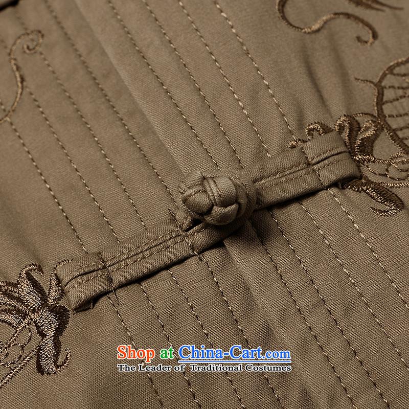 聽Tang Dynasty male聽2015 UYUK autumn new Mock-Neck Shirt China wind leisure retro xl men Chinese tunic聽507.9聽Army Green聽190,UYUK,,, shopping on the Internet