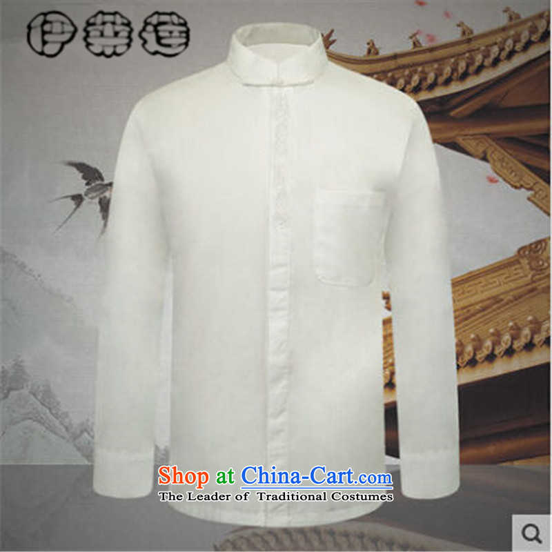 Hirlet Ephraim of autumn and winter 2015 New Product men of ethnic Tang dynasty shirt with the elderly in the grandfather father Men's Shirt China wind leisure men map color聽XXL