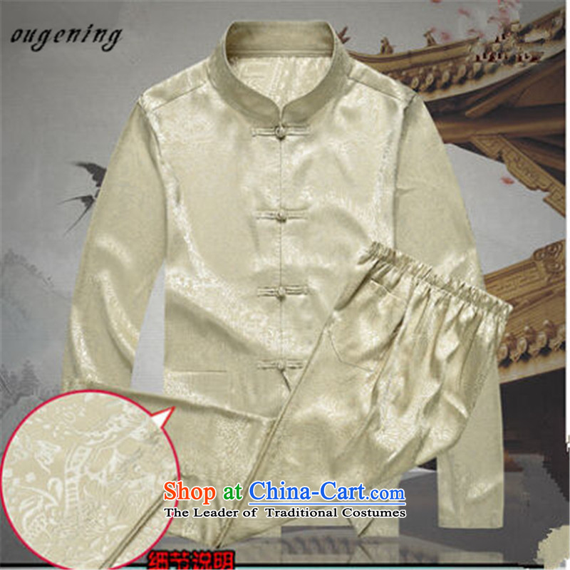 The OSCE, 2015 autumn and winter lemonade new product men of ethnic Chinese PU yi tang jackets in older men and Chinese shirt PU along the River During the Qingming Festival 聽175