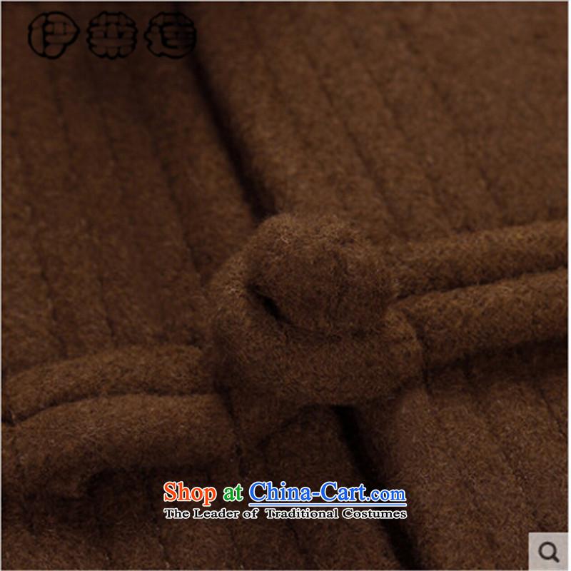 Hirlet Ephraim 2015 autumn and winter new men wool coat man grandpa father China wind wool a leisure of ethnic Chinese tunic shirt wine red聽185, Electrolux Ephraim ILELIN () , , , shopping on the Internet
