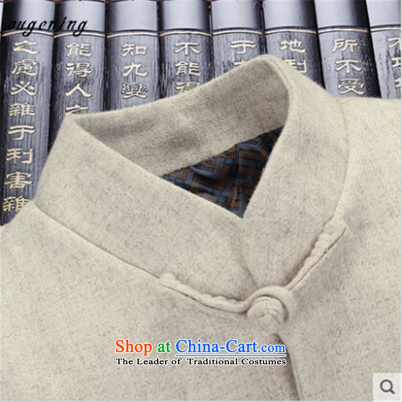The name of the 2015 autumn of the OSCE New China wind in older disk Tang dynasty detained a t-shirt dad gross grandpa replacing men long sleeve jacket coat gray聽190, Europe (ougening lemonade Grid) , , , shopping on the Internet