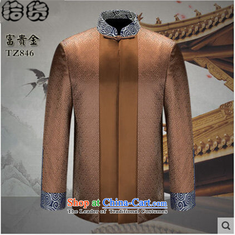 The Fall 2015 pickup stylish men of older persons in the father of ethnic replacing a grandfather shou stitching shirt Tang jackets and elegant blue聽180, Volume (shihuo pickup) , , , shopping on the Internet