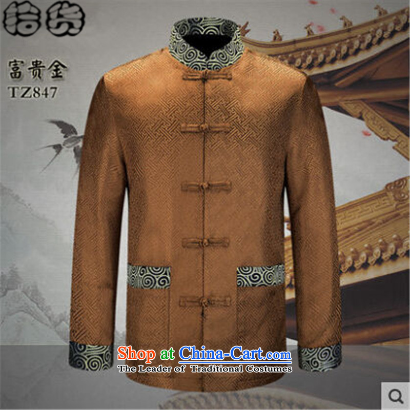 The 2015 autumn pick new men of ethnic Chinese Tang jackets father replacing older men's grandfather installed China wind jacket and contemptuous of men and Kim聽190