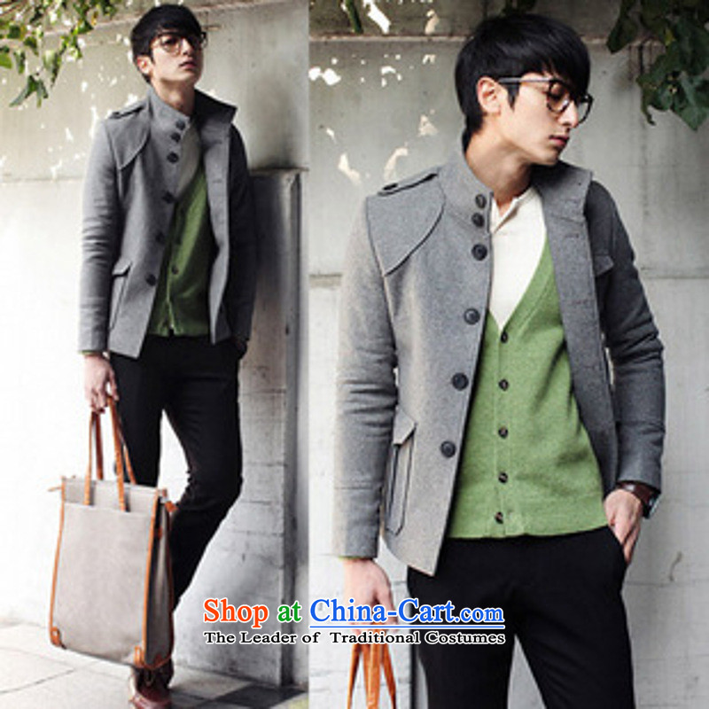 Dan Jie Shi autumn and winter new men jacket, Korean jacket Sau San? The Chinese tunic stylish gross leisure black燤