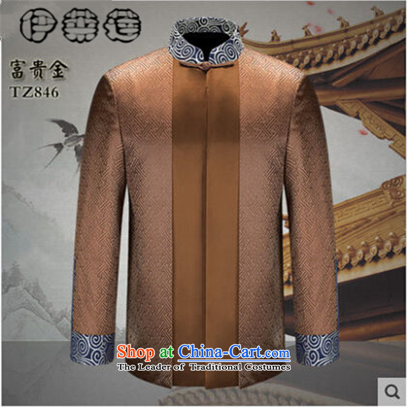 Hirlet Ephraim 2015 autumn and winter new men, older men jacket, Chinese Dress Shirt men of ethnic Tang jackets of older persons in the Tang Dynasty Recreation and contemptuous of Kim聽190