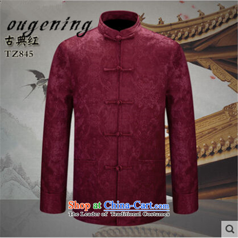 The name of the 2015 autumn of the OSCE new men of older persons in the Chinese People Tang Blouses China Wind Jacket with grandpapa father wedding dresses Red聽170