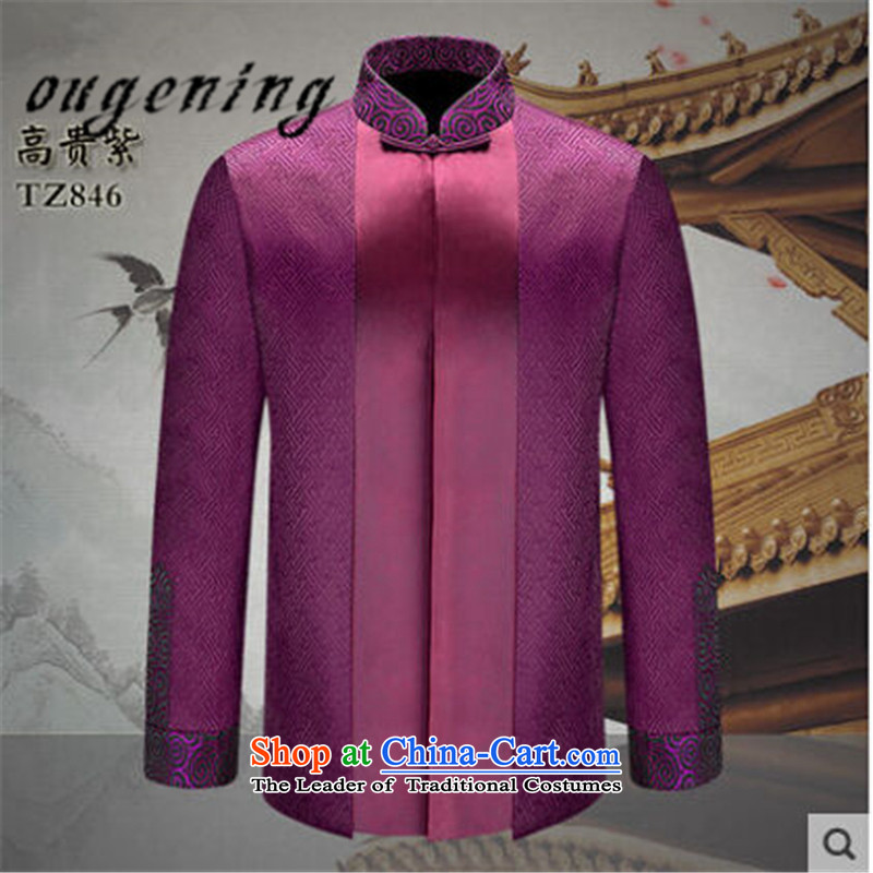 The name of the 2015 autumn of the OSCE new men in older jacket, father of Chinese Dress Shirt men with classical stamp grandfather Tang dynasty noble purple�5