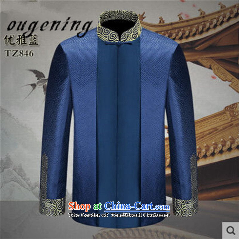 The name of the 2015 autumn of the OSCE new men in older jacket, father of Chinese Dress Shirt men with classical stamp grandfather Tang dynasty first聽175 euros of noble lemonade ougening (shopping on the Internet has been pressed.)
