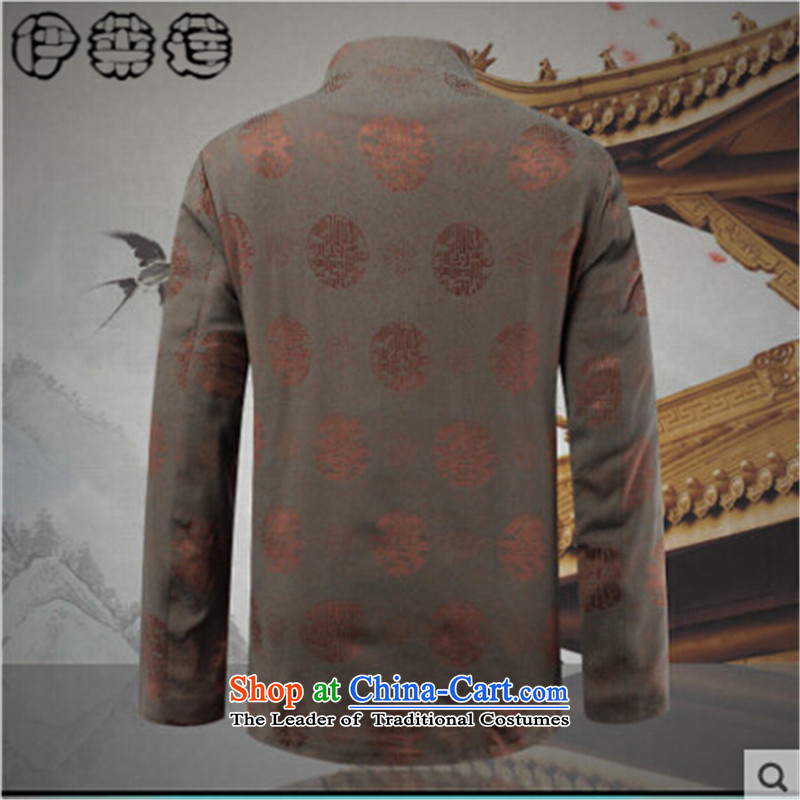 Hirlet Ephraim Fall 2015 new minimalist retro fitted ethnic grandpa father Chinese PU T-shirt jacket men aged PU jacket lanterns red聽170, Electrolux Ephraim ILELIN () , , , shopping on the Internet