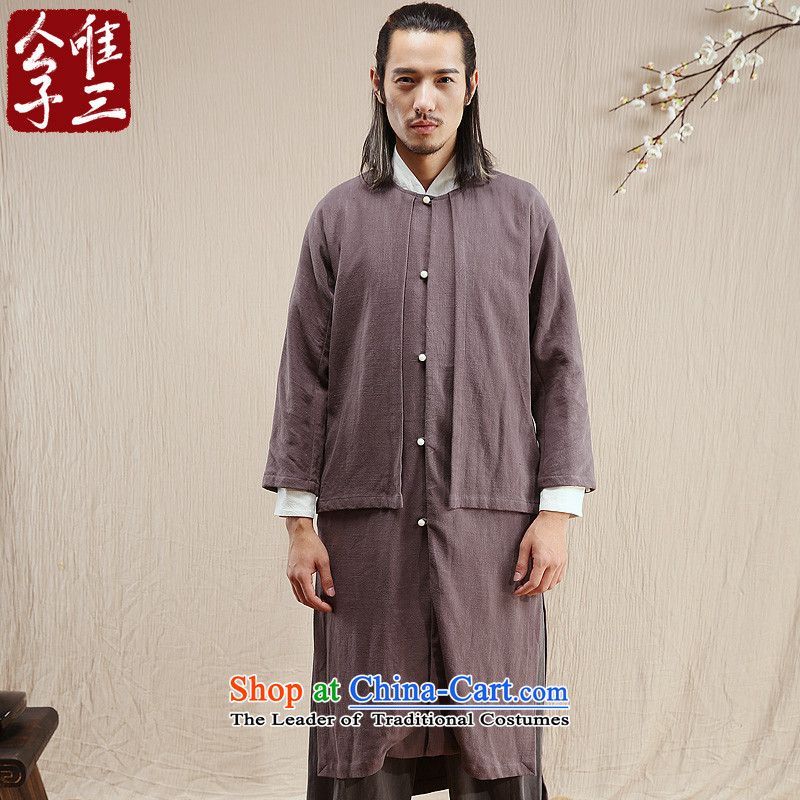 Cd 3 Model China wind up controversy over the Han Chinese Ma Tei linen coat leisure national Han-Tang dynasty windbreaker autumn gray聽175_92A_L_