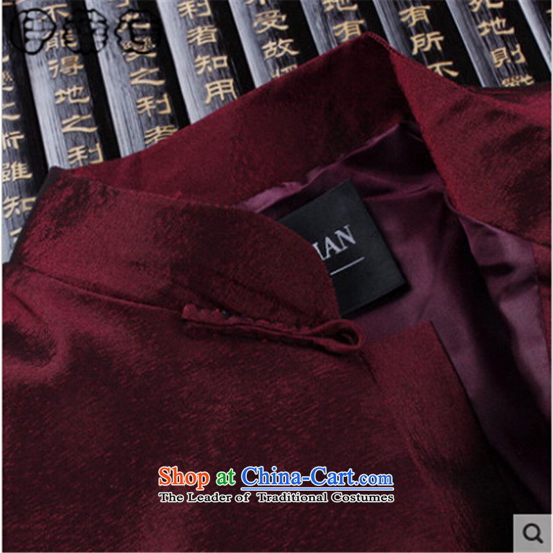 Hirlet Ephraim Fall 2015 New Tang dynasty of older people in the long-sleeved blouse embroidered men men's jacket coat elderly Tang clothes father boxed auspicious red聽170, Electrolux Ephraim ILELIN () , , , shopping on the Internet