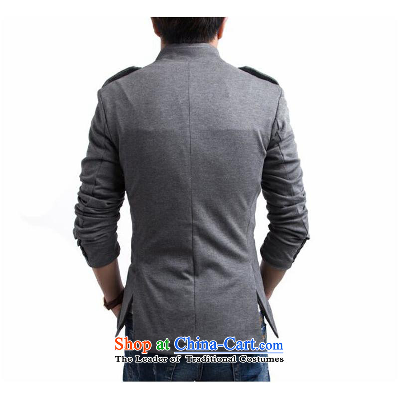The English fashion Men's Mock-Neck small suit Chinese tunic聽Y015聽gray聽, Sau San Jie (rvie. and shopping on the Internet has been pressed.)