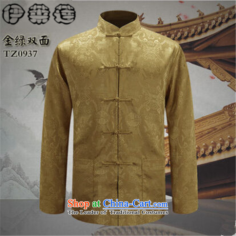 Hirlet Ephraim Fall 2015 new father replacing men casual ethnic retro Tang dynasty men of older people in China Wind Jacket black and silver 2-sided聽, L, Electrolux Ephraim ILELIN () , , , shopping on the Internet