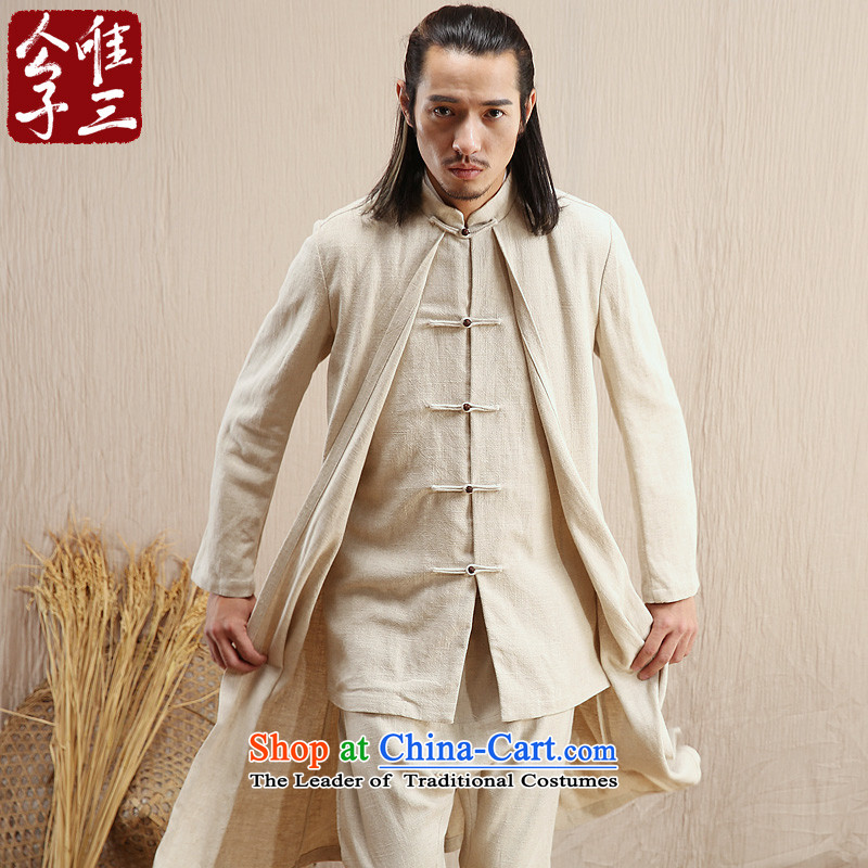 Cd 3 Model China wind condor linen male Hon Ma Chinese jacket leisure Tang dynasty ethnic Han-yi autumn wind ma natural?175_92A_L_