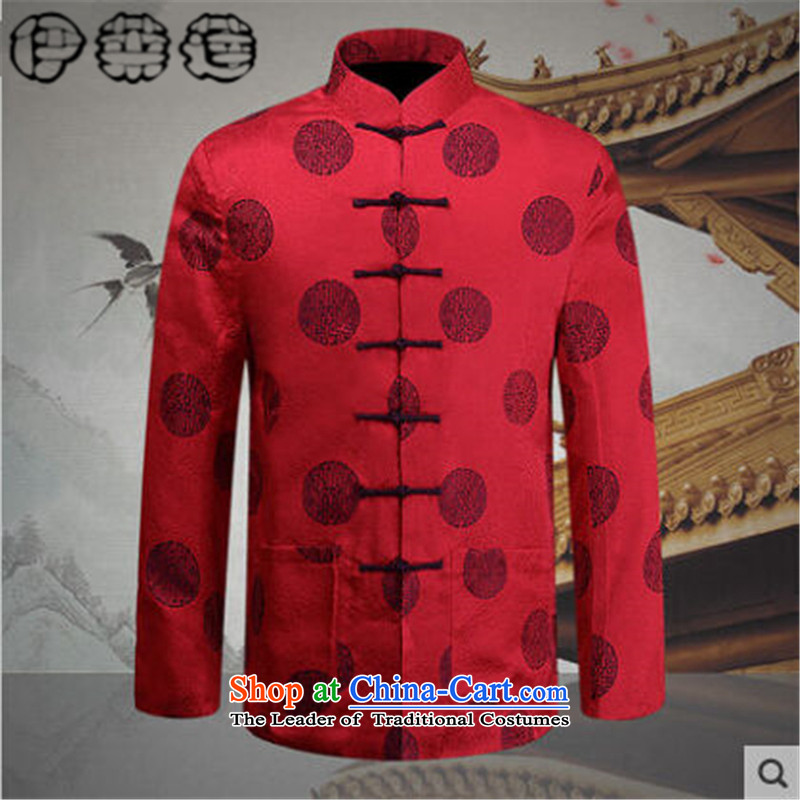 Hirlet Ephraim Fall 2015 New Men, new ethnic Chinese shirt jacket male father grandfather in older leisure Tang blouses map color 175