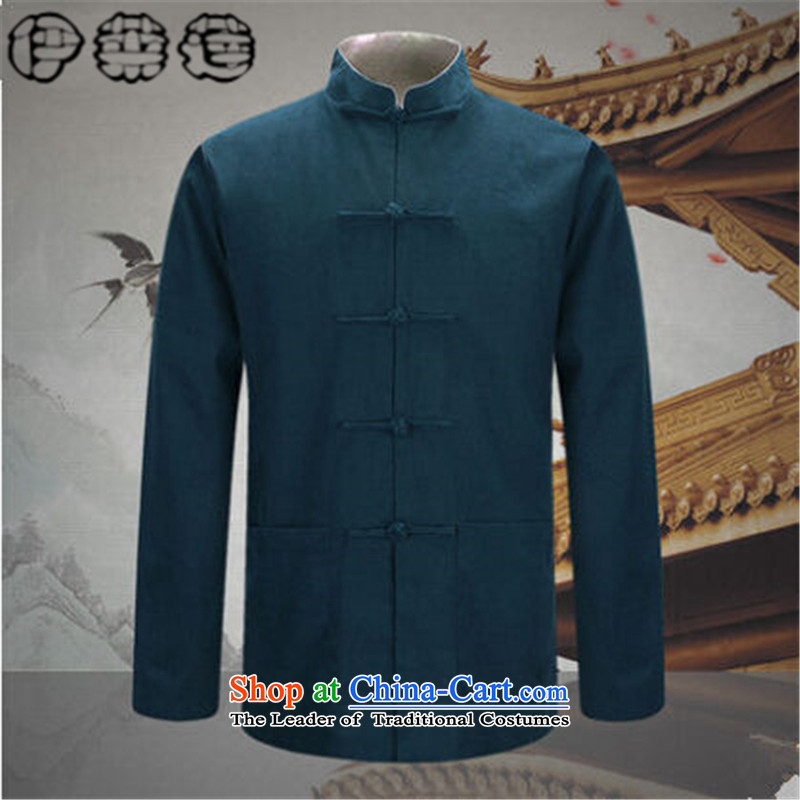 Hirlet Ephraim Fall 2015 New Men Tang jacket in older Chinese men's long-sleeved sweater China wind father blouses black and red double-sided聽M Yele Ephraim ILELIN () , , , shopping on the Internet