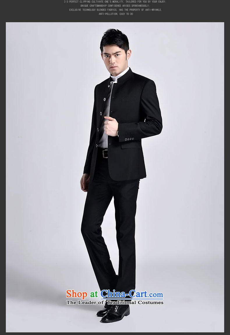 The 2015 New Chinese tunic kit stylish Men's Mock-Neck Sau San suit Chinese Youth Pack Black聽XXL picture, prices, brand platters! The elections are supplied in the national character of distribution, so action, buy now enjoy more preferential! As soon as possible.