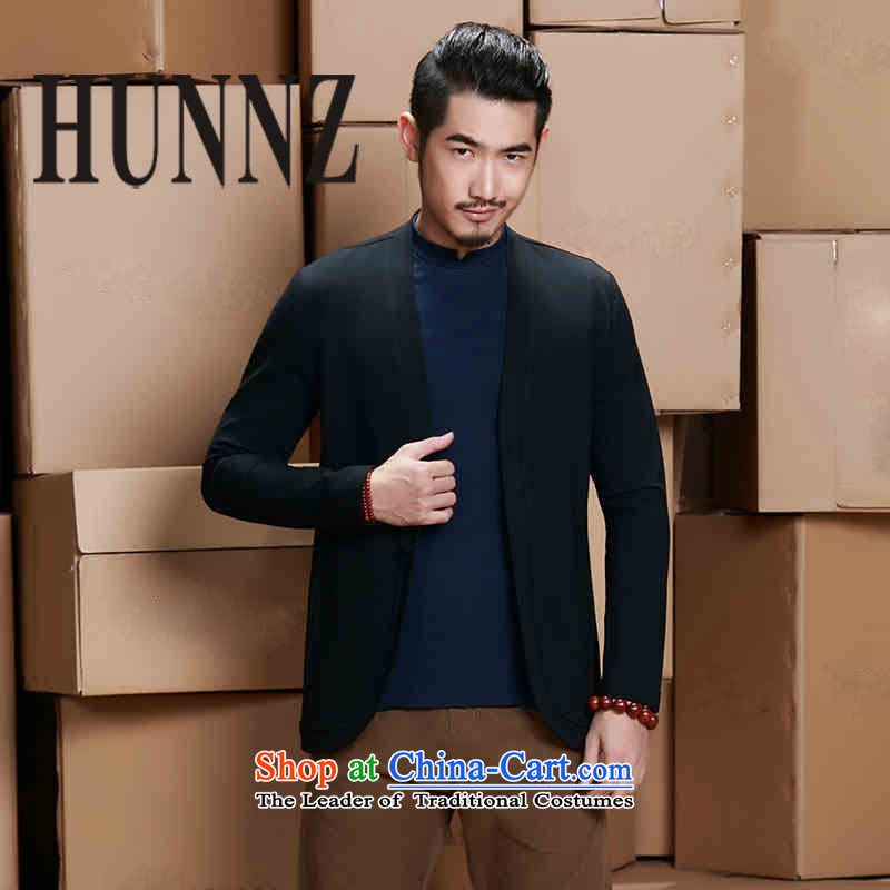 燙asual dress pants men HUNNZ suit coats of Sau San-autumn shirt England two tablets of detained men in black suit, click�5