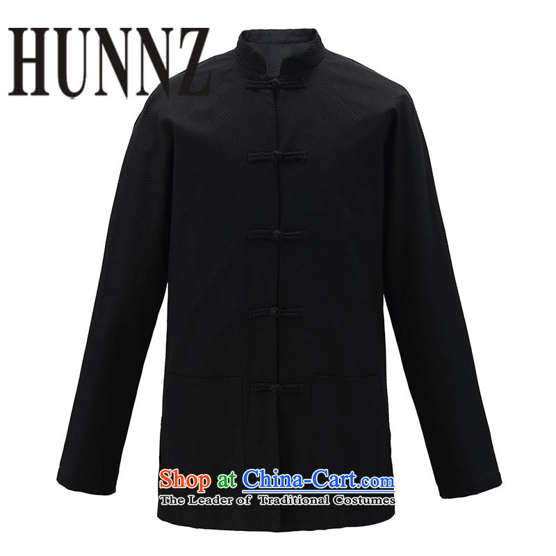 Tang HUNNZ jackets Chinese men China wind national costumes father boxed pure cotton shirt classic black shirt autumn聽165