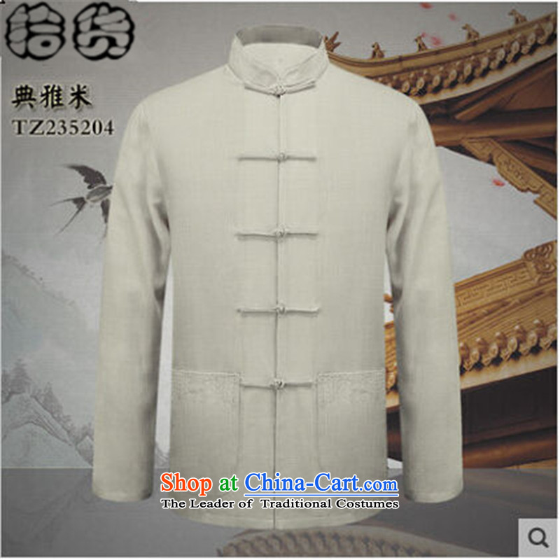 The 2015 autumn pick new father grandfather replacing Tang replacing men l Chinese shirt Tray Tie China Wind Jacket coat shirt elegant retro M?L