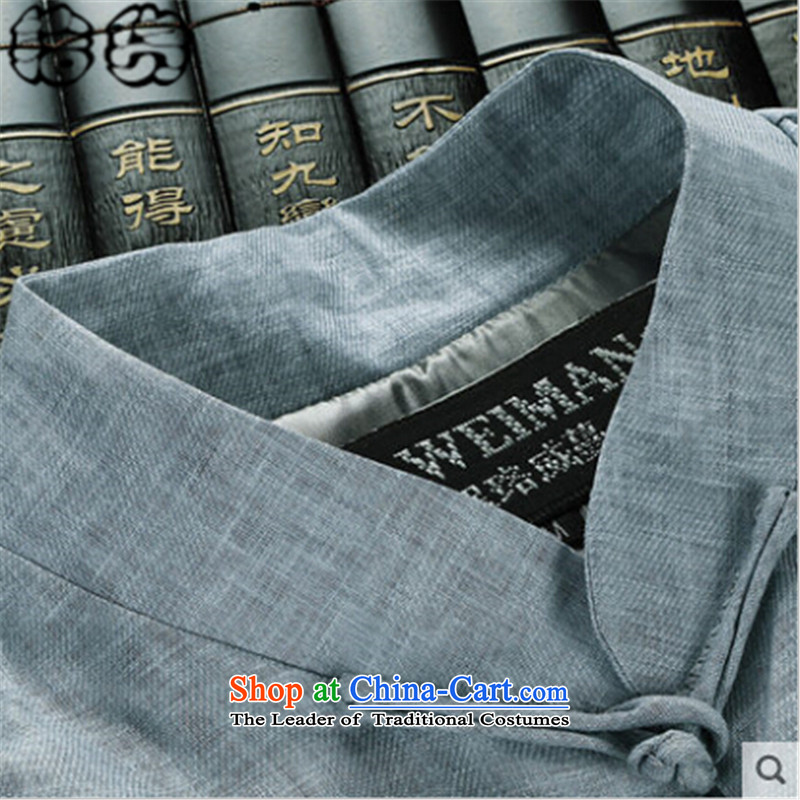 The 2015 autumn pick new retro wind in older Tang Jacket coat long-sleeved Chinese disc loading dad detained China Wind Jacket XXXL, light blue pickup (shihuo) , , , shopping on the Internet