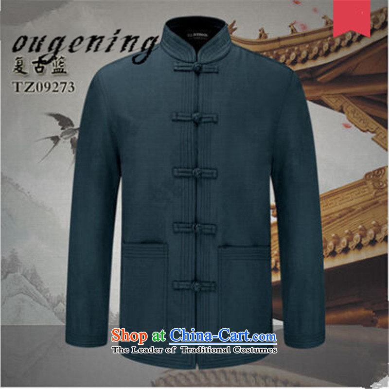 The name of the 2015 autumn of the OSCE New Men Tang blouses China wind retro male pure cotton of older persons in the Han-l leisure jacket retro Blue聽170